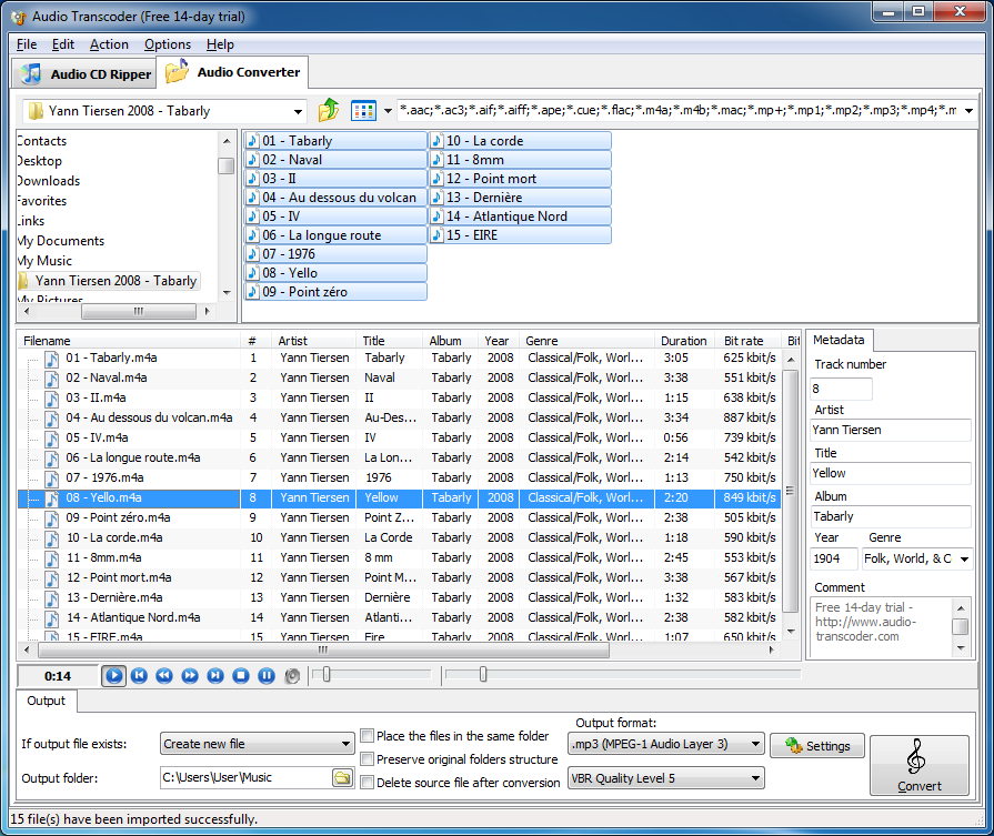 Audio Transcoder, 2.8