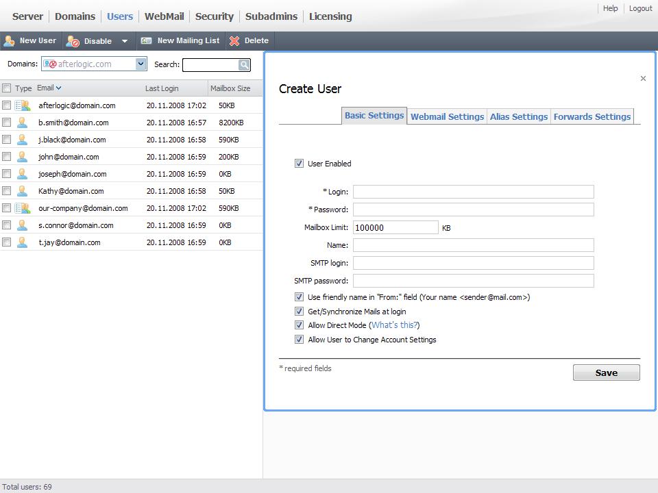 AfterLogic MailSuite Pro, 5.1 (Linux)