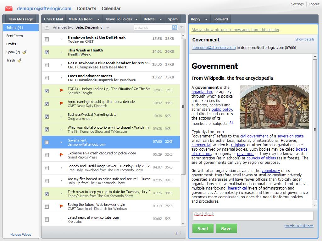 AfterLogic WebMail Pro, 6 (PHP)