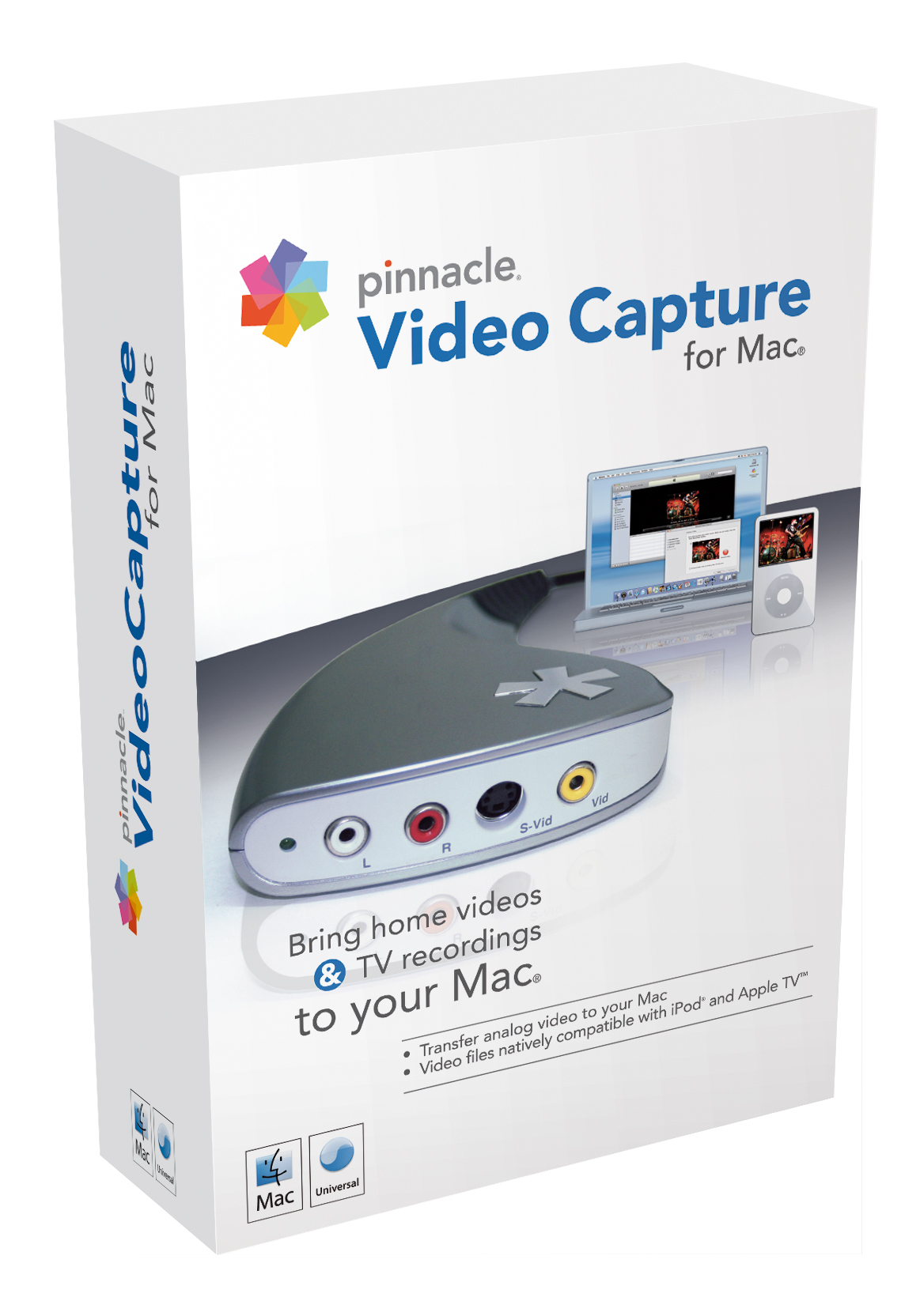Pinnacle hat mit Video Capture for Mac eine Software-/Hardware-Lösung