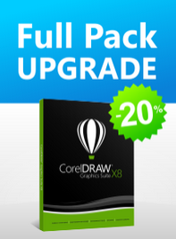 Full Pack Upgrade для CorelDRAW Graphics Suite со скидкой 20%