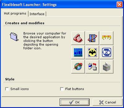 ��������� ��������� ������� ������ ������� Flexiblesoft Launcher ��� ������������