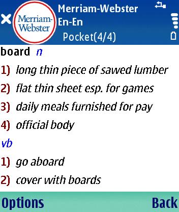 Стиль жизни Словари и переводчики Английский толковый словарь Merriam-Webster Pocket для Symbian S60 3rd Edition