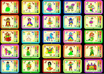 Скриншот программы Волшебные краски для девочек 2.0