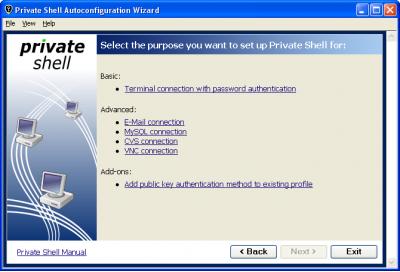 Скриншот программы Private Shell 3.3