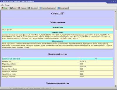 Субботин Николай Валерьевич Марочник сталей