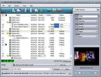 Скриншот программы Xilisoft Blu Ray Ripper