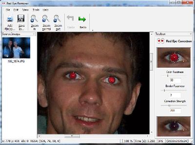 Скриншот программы Red Eye Removal 3.5