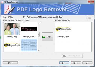 Скриншот программы Remove Watermark from PDF 1.0