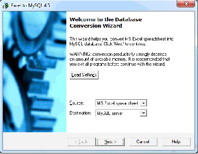 Скриншот программы Excel-to-MySQL 6.1