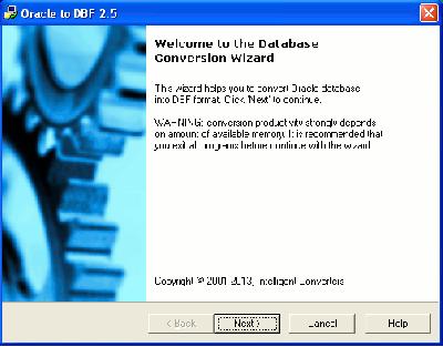 Скриншот программы Oracle Migration Toolkit 5.1
