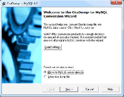 Скриншот программы OraDump-to-MySQL 7.3