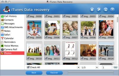 Скриншот программы iTunes Data Recovery for Mac