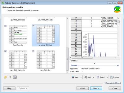 Скриншот программы RS Excel Recovery Офисная Лицензия