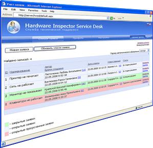 Скриншот программы Hardware Inspector Service Desk 2.9