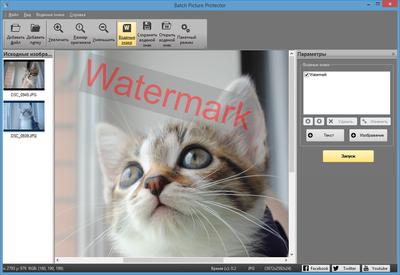 Скриншот программы Batch Picture Protector 6.7