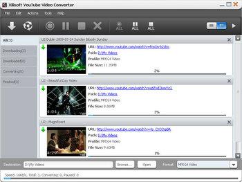 Скриншот программы Xilisoft YouTube Video Converter
