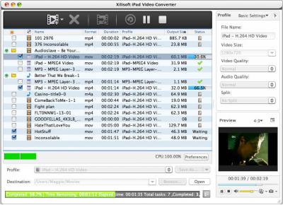 Скриншот программы Xilisoft iPad Video Converter for Mac