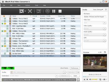 Скриншот программы Xilisoft iPad Video Converter