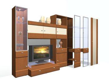 Скриншот программы DS 3D Конструктор корпусной мебели
