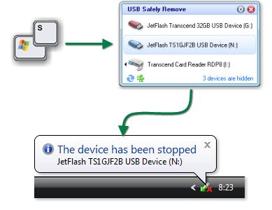 Скриншот программы USB Safely Remove 6.1