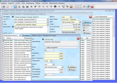Скриншот программы ANALITIKA 2015 NET 1.15.5577