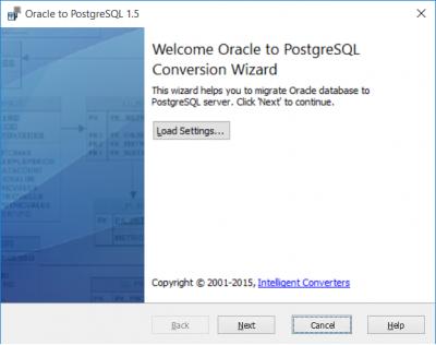 Скриншот программы Oracle-to-Postgres 3.3