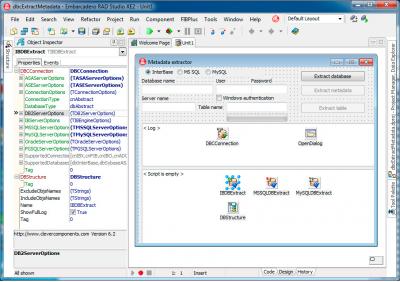 Скриншот программы Database Comparer VCL 7.0