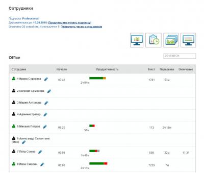 Скриншот программы StaffCounter для Windows DLP Agent v7