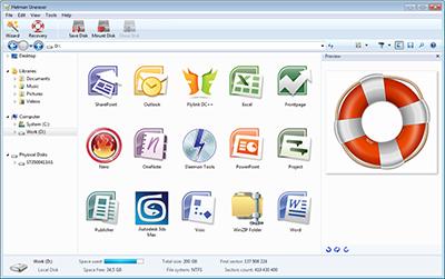 Скриншот программы Hetman Uneraser (восстановление файлов) Офисная версия