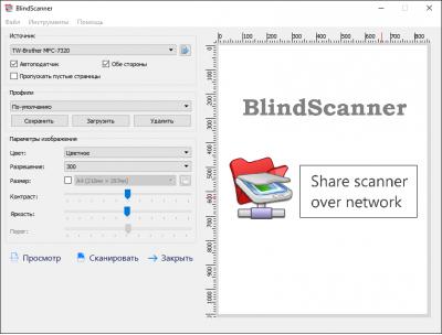 Скриншот программы BlindScanner 4.5