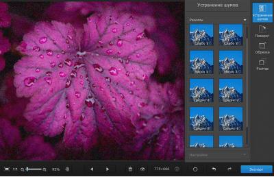 Скриншот программы Movavi Photo DeNoise для Mac 1 Персональная