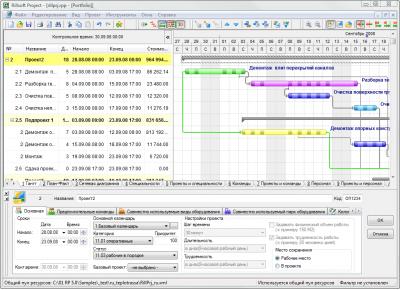 Скриншот программы Rillsoft Project Standard 6.1