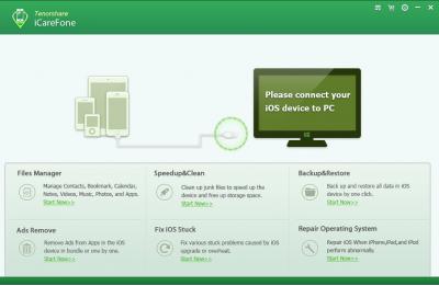 Скриншот программы iCareFone для Windows