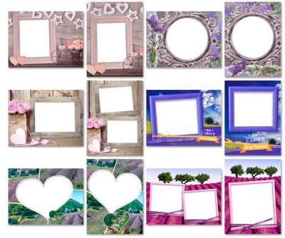 Скриншот программы Рамки для фотографий в стиле прованс 100 готовых рамок