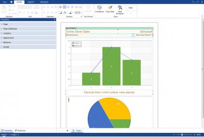 Скриншот программы Stimulsoft Reports.JS 2018.1