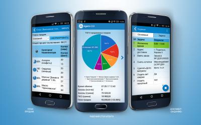 Скриншот программы Агент Плюс: Мобильная торговля Проф