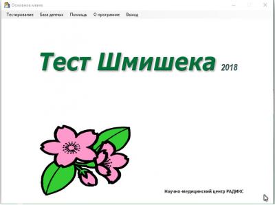 Скриншот программы Тест Шмишека 2018