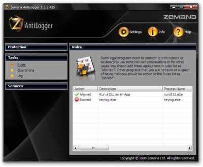 Скриншот программы AntiLogger 2.7