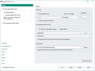 Скриншот программы ImagePrinter Pro 6.3 Лицензия для рабочей станции