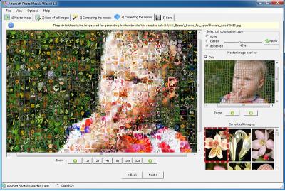 Скриншот программы Photo Mosaic Wizard Pro 2.0 Персональная лицензия