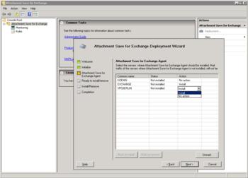 Скриншот программы Attachment Save for Exchange 1.1