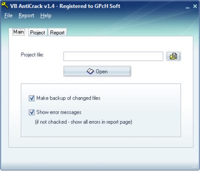 Скриншот программы VB AntiCrack 2.0