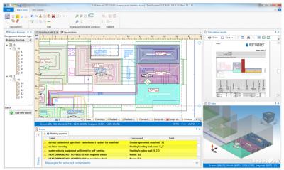 Скриншот программы InstalSoft InstalSystem 5, конфигурация отопления
